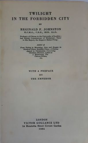 JOHNSTON (Reginald F.)