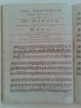 DIBDIN (Charles 1745 - 1814 musician, songwriter, dramatist, novelist and actor)
